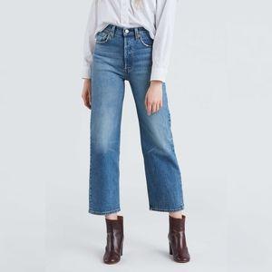 🆕LEVI'S Ribcage Straight Ankle  Jeans Sz 28